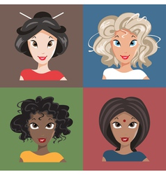 different nationalities vector image