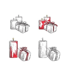 Gift Boxes sketch vector image vector image
