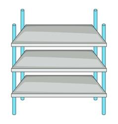 Industrial shelving icon cartoon style vector