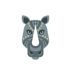 Rhinoceros African Animals Stylized Geometric Head vector image vector image