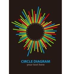Circle diagram vector image