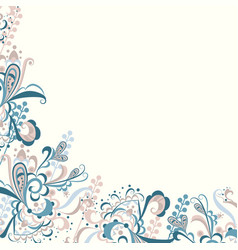 delicate floral abstract vector image vector image