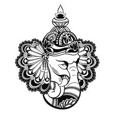 hindu lord ganesha vector image vector image