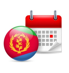 Icon of national day in eritrea vector image vector image