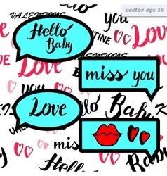 love speech bubble vector image