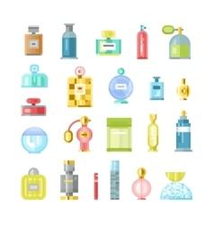 Perfume bottle icons vector image