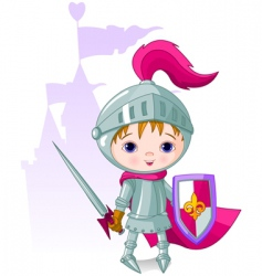 brave knight vector image vector image