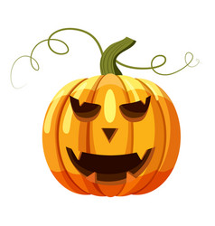 Halloween pumpkin icon cartoon style vector