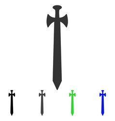medieval sword flat icon vector image