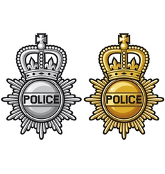 police badge police sign vector image vector image