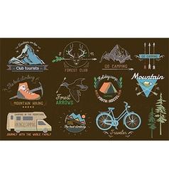 set of vintage camp labels vector image vector image