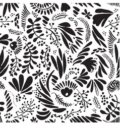 Abstract black and white repeatable seamless vector