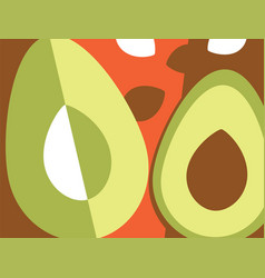 Abstract fruit design avocados vector