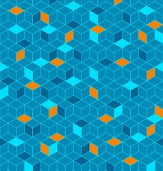 Abstract seamless cubes vector