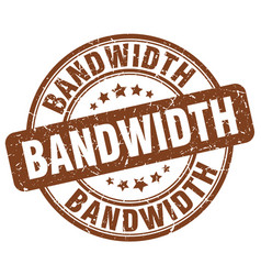 Bandwidth brown grunge stamp vector