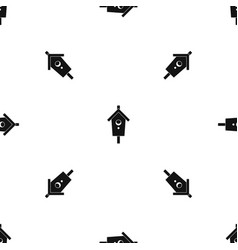 birdhouse pattern seamless black vector image