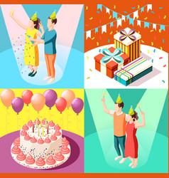 birthday party 2x2 design concept vector image