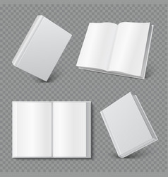 Book cover mockup realistic blank booklet cover vector