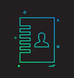 contact book icon design vector image