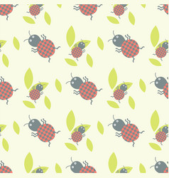 cute insects seamless pattern beautiful art vector image