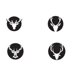 Deer head logo black vector