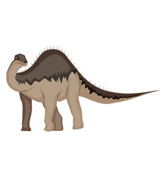 diplodocus on white background vector image
