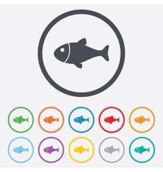 Fish sign icon Fishing symbol vector image