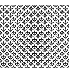 Fleur de lis black and white seamless pattern vector