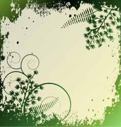 floral background ornament leaves vector image
