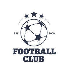 football club poster title vector image