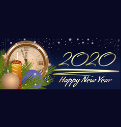 Greeting card for christmas and new year 2020 vector