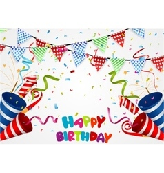 Happy birthday background with confetti vector