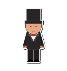 Happy groom icon vector