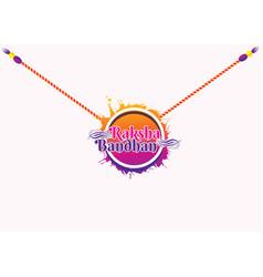 Happy raksha bandhan festival concept banner vector