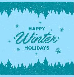 Happy winter holidays vector