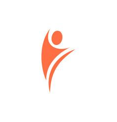 human icon logo design template vector image