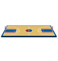 Isolated basketball court vector