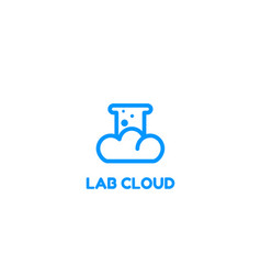 lab cloud logo vector image