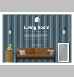 Living room Interior background 2 vector image