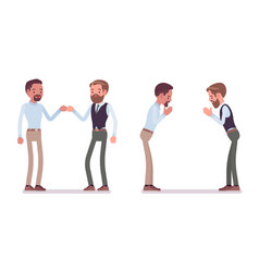 male partners greeting vector image