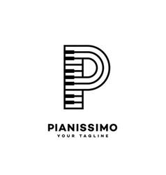 Music letter p vector