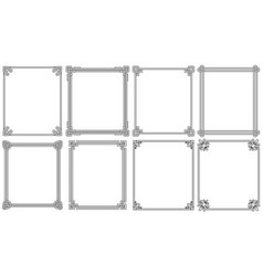 Ornamental frames with corners in different style vector