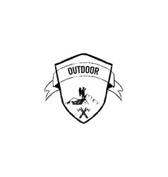 outdoor grunge retro logo vector image