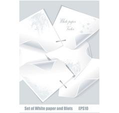 Paper and blots vector