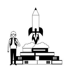 people education school vector image