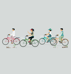 people love cycling vector image