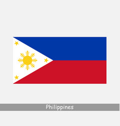Philippines filipino national country flag banner vector