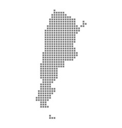pixel map of argentina dotted map of argentina vector image