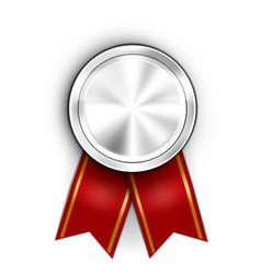 realistic award medal winner champion silver medal vector image