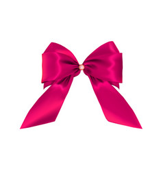 realistic pink bow isolated on white background vector image